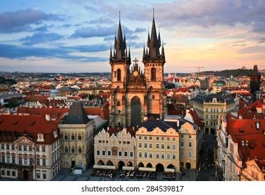 Old Prague rooftop