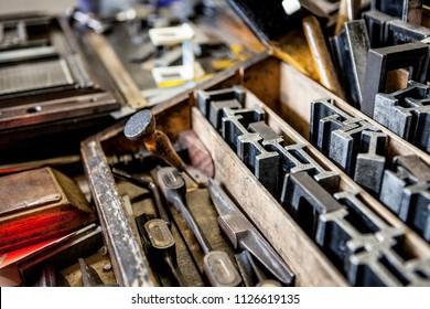 Old printers tool box