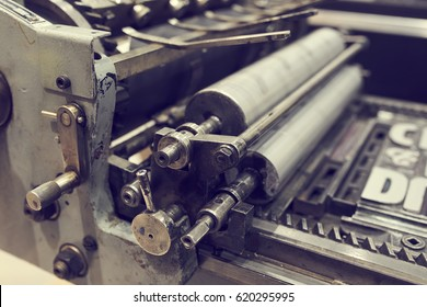 old printing machine