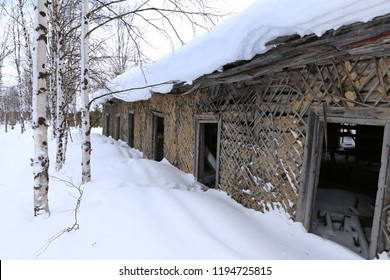 "The old prison barracks of Stalin's 501-construction sites of the GULAG. The construction of the railway, ""Chum - Salekhard - Igarka"""