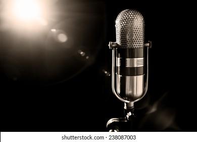 old pro studio microphone
