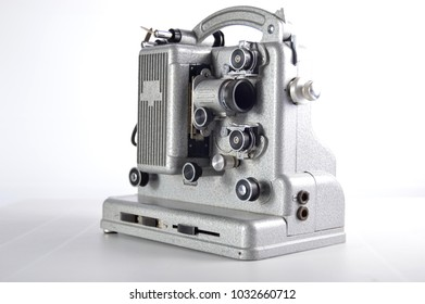 Old projector on a white background