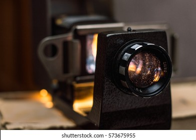 the Old projector with photos