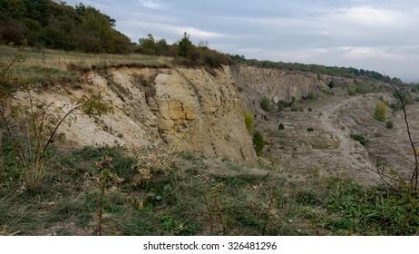 An old quarry landscape