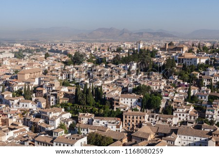Old Quarter Granada Near Alhambra Spain Stock Photo (Edit Now