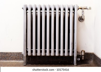 An old radiator with a new thermostat