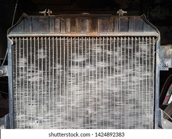 Old radiator is very dirty and block dust (select focus)