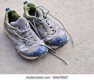 Old, ragged men sneakers
