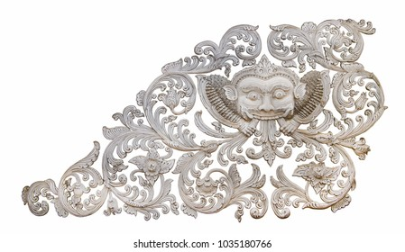 Old Rahu statue will bring success or good luck as possible in Thailand, Rahu the mythical of Darkness. He has half body, but invisible The statue pose is the giant swallow the moon for the eclipse