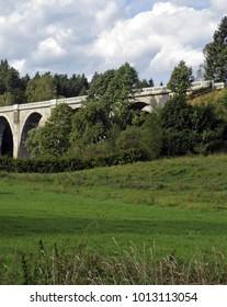 Old rail bridge in Sta?czyki, Poland.