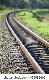 old railroad tracks at railway station, transportation