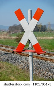 A old railway crossing (saltire) in Germany