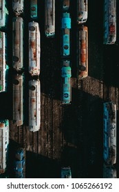 old railway depot, bird's eye view