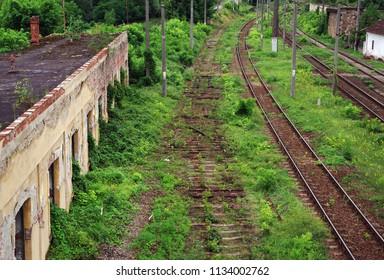 Old railway in Romania, Europe