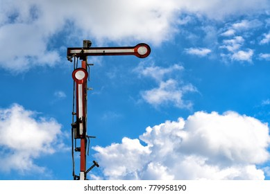 old railway signal