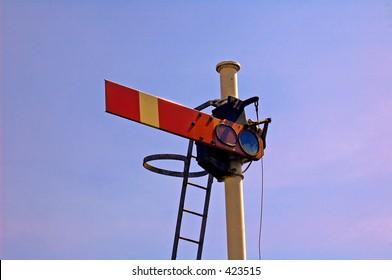 Old railway signal. carnoustie, scotland