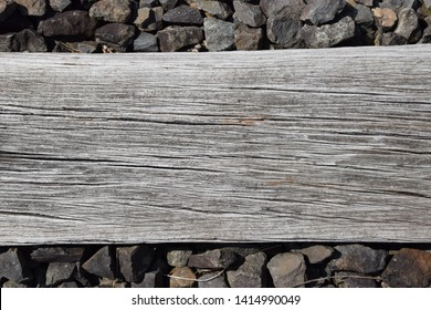 Old railway sleepers made of wood
