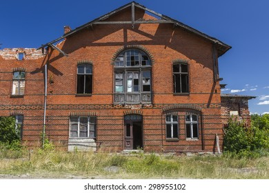 The old railway station building