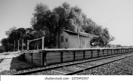Old railway station on the Mildura line in Australia