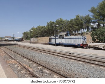 old railway station in Sardinia