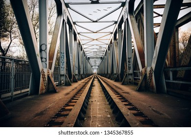 Old railway for trains in Trencin , Slovakia