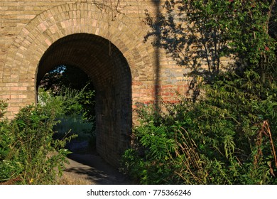 An old railway tunnel in the countryside
