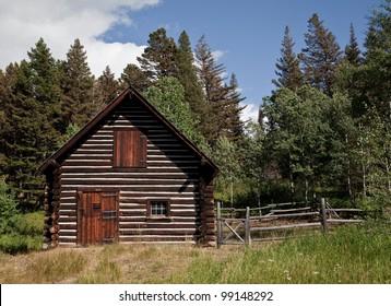 Old Ranger cabin in Glacier National Park in Montana