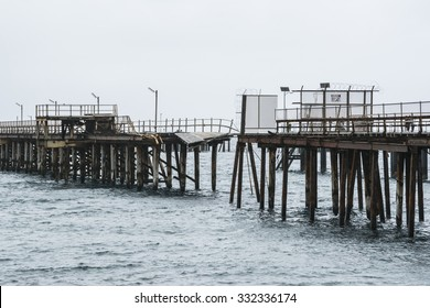 The old Rapid Bay Jetty, South Australia. Showcasing it's rusted, dilapidated and graffiti riddled charm