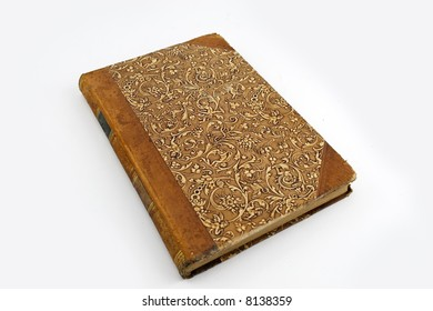 Old rare book isolated on white