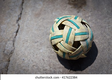 Old rattan ball - Concept background