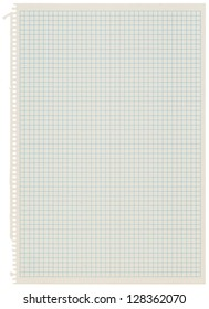Old recycled graph paper. High resolution
