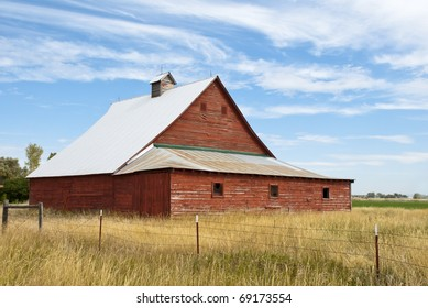 An old red barn.