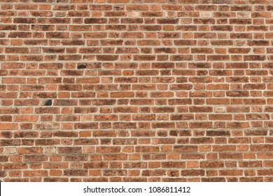 Old red brick wall texture for background