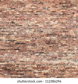 old red brick wall texture background