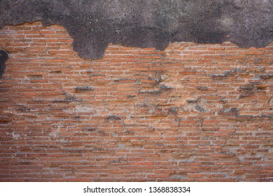 Old red brick wall texture background with scratches, cracks, dust, crevices, roughness.  Grungy Wide Brickwall. Grunge Red Stonewall Background.Abstract Web Banner. Old brick wall.  Seamless bricks t