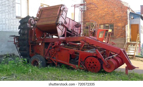 old red combine