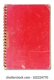 old red cover notebook