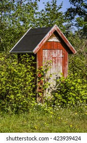 The old red outhouse