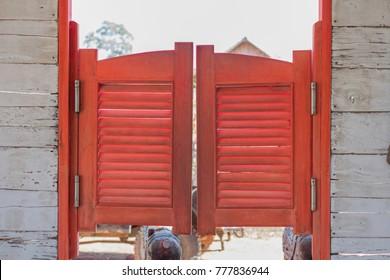 Old red Saloon doors & Cowboy Doors Images Stock Photos \u0026 Vectors | Shutterstock