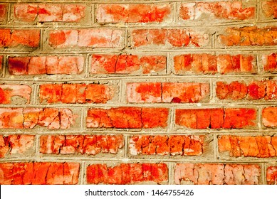 old red textured brick wall