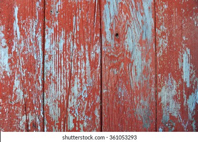 Old red wooden wall as a background