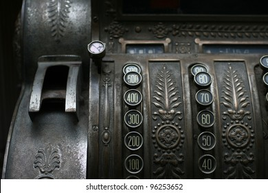 Old register with different values on it
