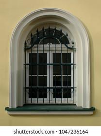 Old renovated window, semicircular, baroque