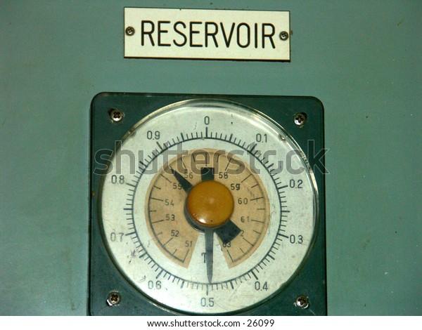 Old Reservoir with analog meter model