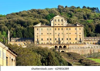 "The old residence called ""Aldobrandini"" in the town ""Frascati"", Rome, Italy."