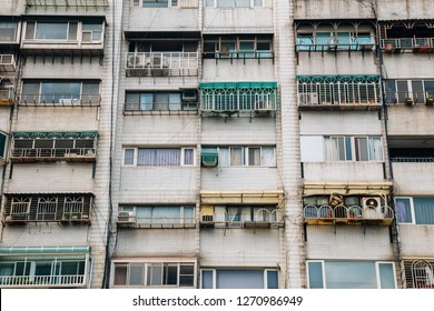 Old residential apartment building in Taipei, Taiwan