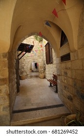 Old residential quarters in the old city of Nablus.