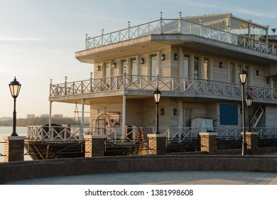 Old restaurant on the water by the waterfront
