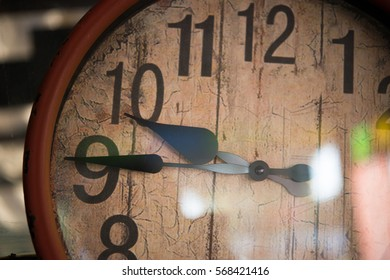 Old retro clock.