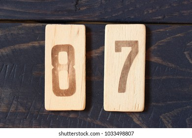 Old retro numbers